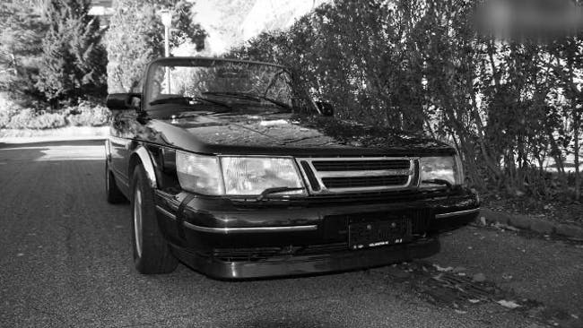 cabriolet Saab 900 Saab Cabriolet 16V 1987 schwarz