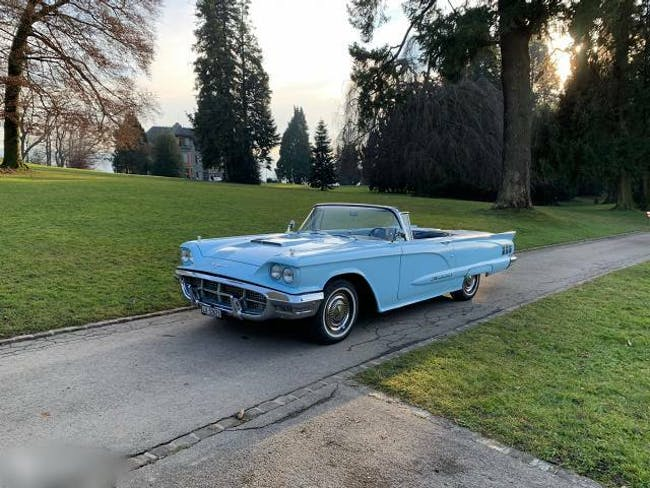 cabriolet Ford Thunderbird 1960 Ford Convertible, manual