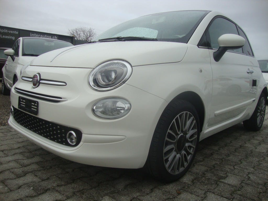 cabriolet Fiat 500 Lounge Turbo GPS 7´´ toit panoramique