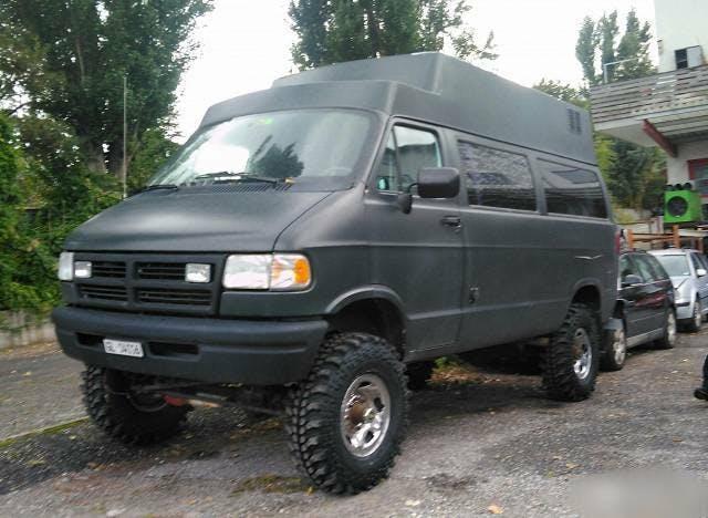bus Dodge Grand Caravan Dodge Mowag Van Offroad 4x4