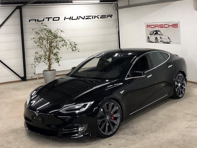 saloon Tesla Model S 90 D Black-Performance Ludicrous Facelift