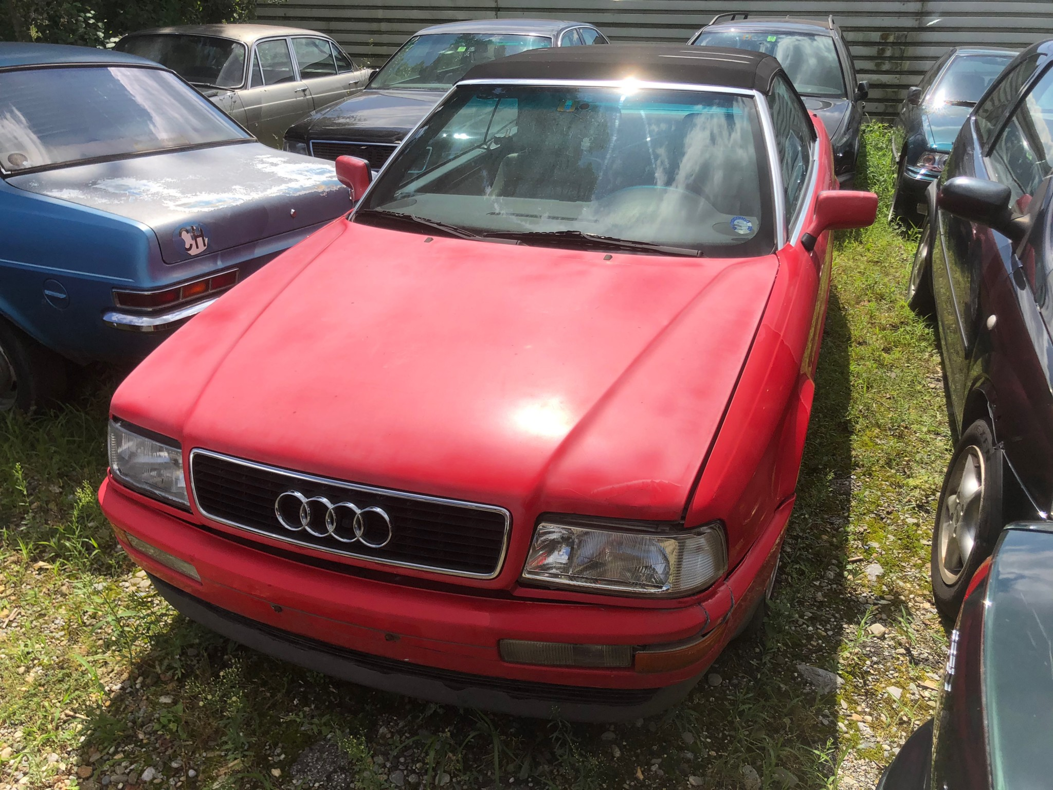 Buy Convertible Audi Cabriolet Cabrio 2 4i Oldtimer 1991 Rot 250000 Km At 1500 Chf On Carforyou Ch