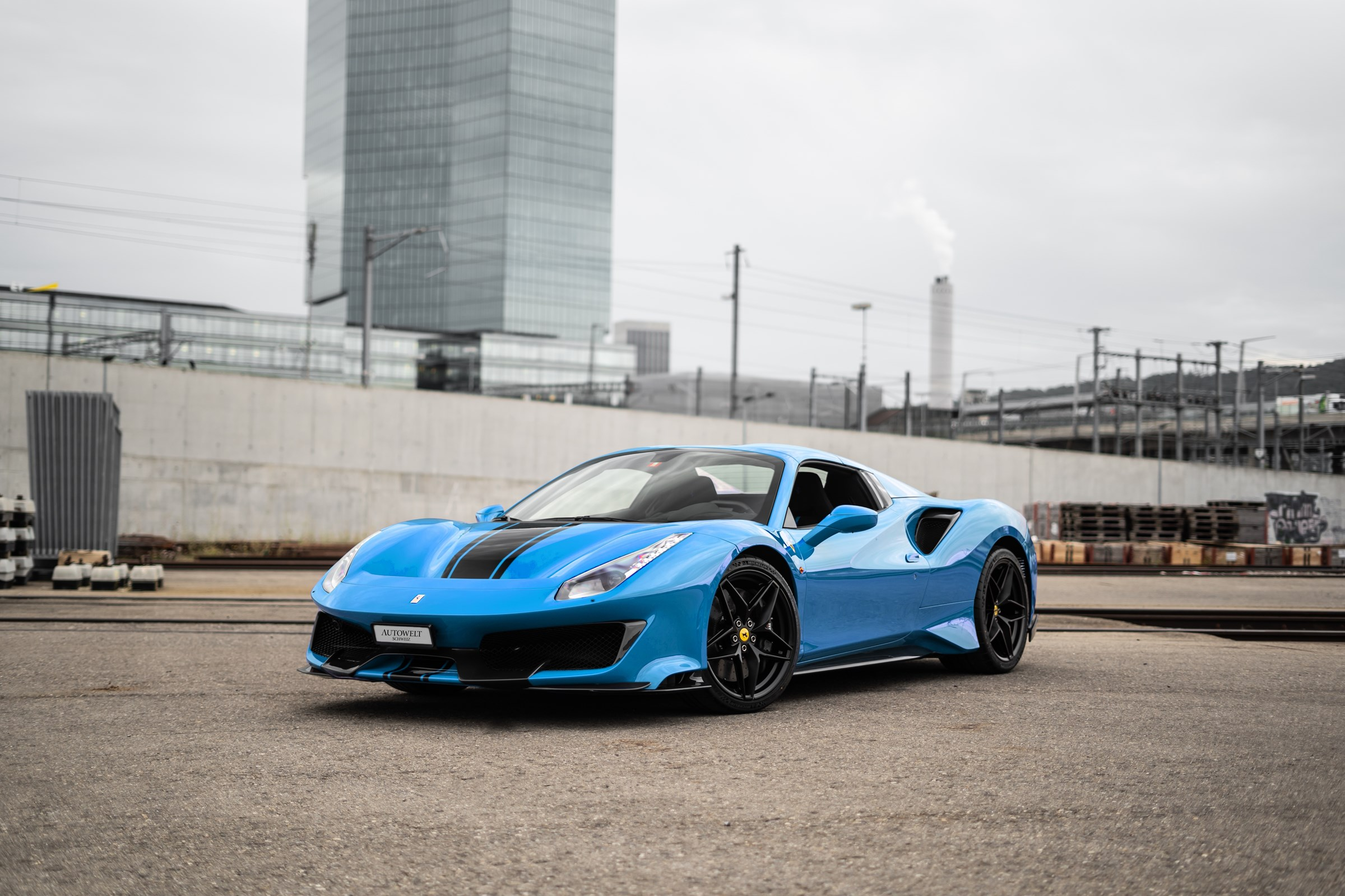 Buy New Car Convertible Ferrari 488 Pista Spider 3 9 V8 10 Km At 650000 Chf On Carforyou Ch