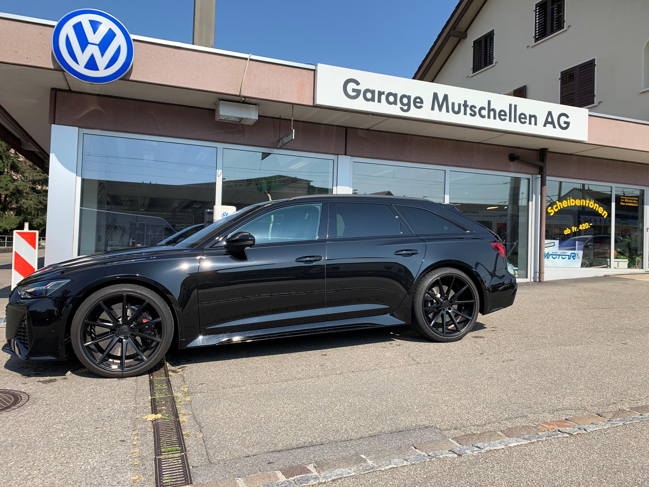 estate Audi RS6 Avant 4.0 TFSI V8 quattro All-Black600PS CH-Auto Werksgarantie bis 2023 mit Vossen 22-Zoll