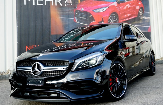 saloon Mercedes-Benz A-Klasse A 45 AMG 4Matic Speedshift 7G-DCT ***Black Edition - AMG Perf. Abgasanlage - AMG RIDE Control***
