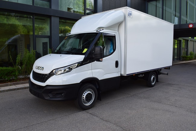 van Iveco Daily / Turbo Daily Daily 35 S 14 NA8 V, GAS, Kastenwagen mit Hebebühne