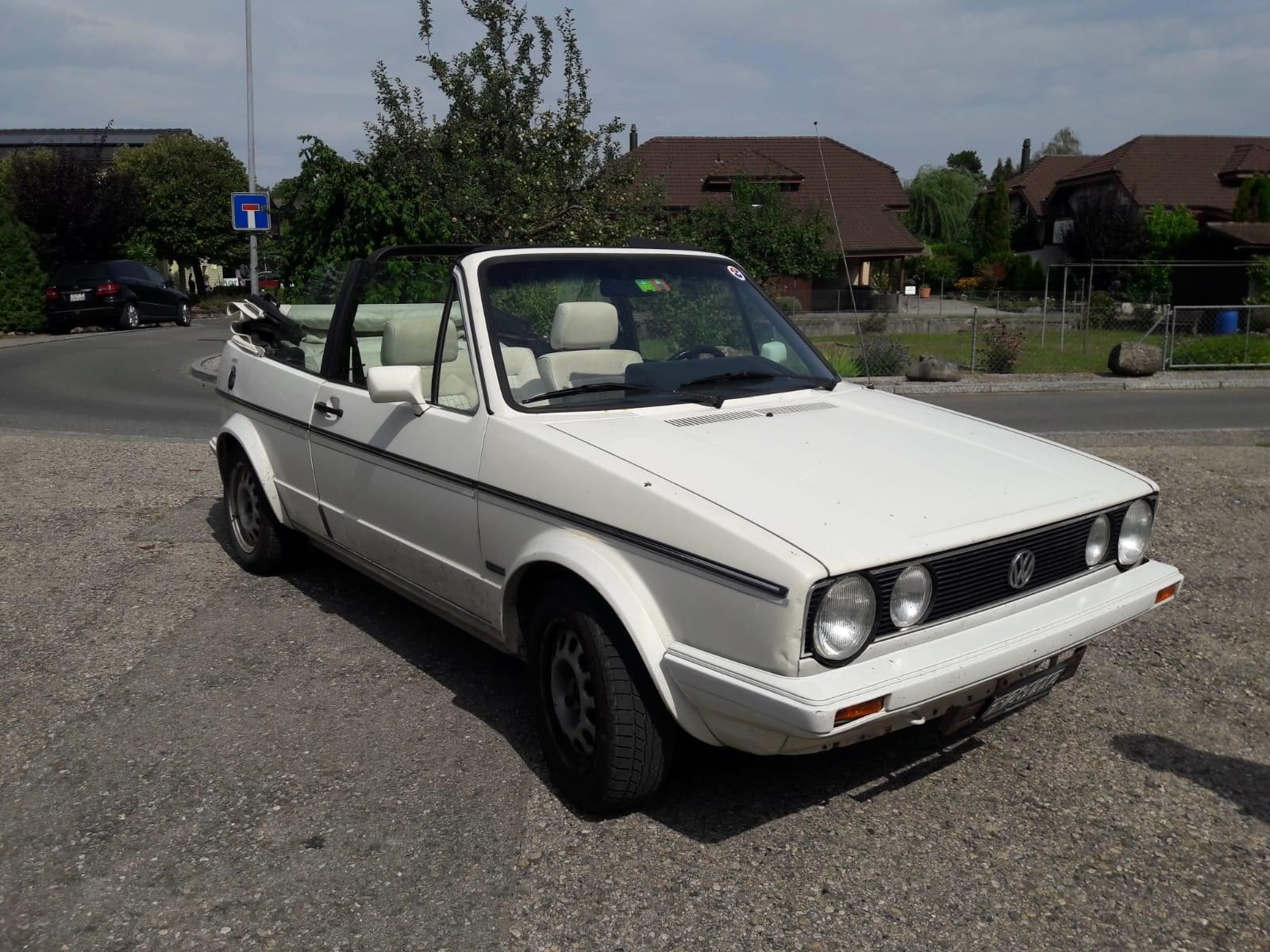 cabriolet VW Golf Cabriolet 1800 GL Quartett/Special/White