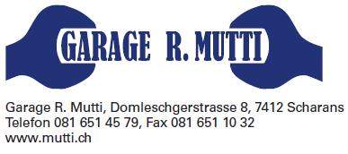 Garage R. Mutti, Scharans logo