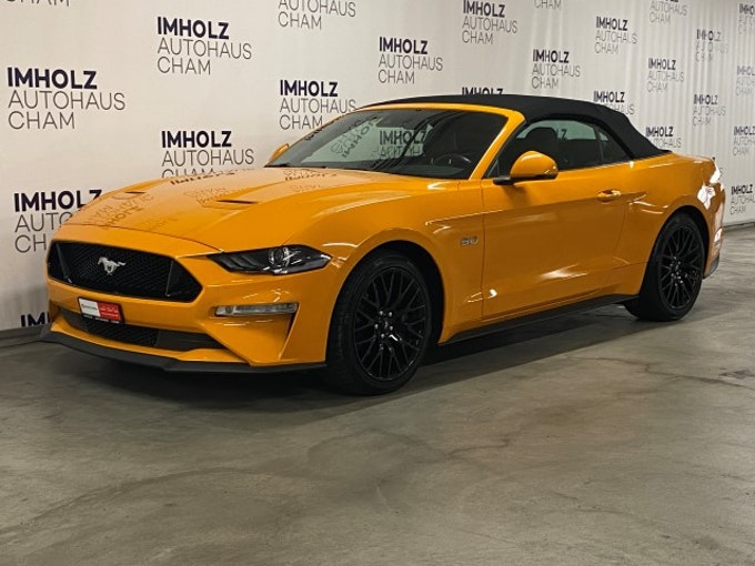 Ford Mustang Convertible 5.0 V8 GT 41'500 km CHF44'950 - buy on carforyou.ch - 1