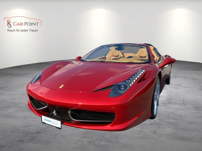 Ferrari 458 Spider Italia 4.5 V8 Rosso Fuoco 38'000 km CHF179'900 - kaufen auf carforyou.ch - 1